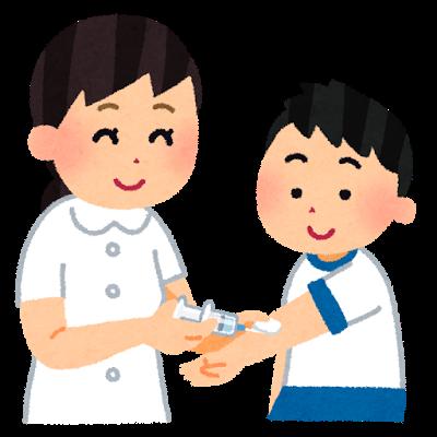 予防接種する子供