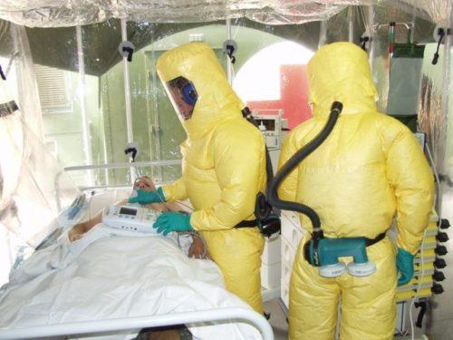エボラ出血熱の患者