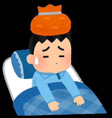 インフルエンザの男の子