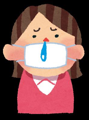鼻水の女の子