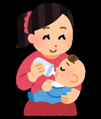 哺乳瓶から授乳をする赤ちゃんのためのインフルエンザ対策