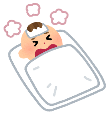 赤ちゃんがインフルエンザで高熱