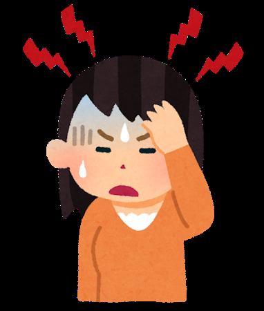 ノロウイルスで頭痛