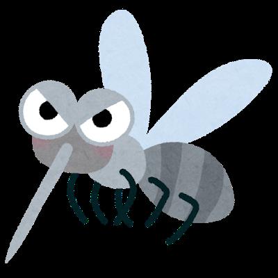 蚊を媒介してマラリアに