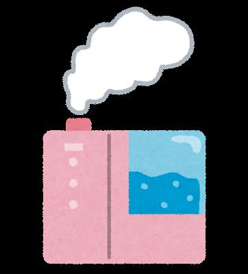 加湿器+次亜塩素酸水